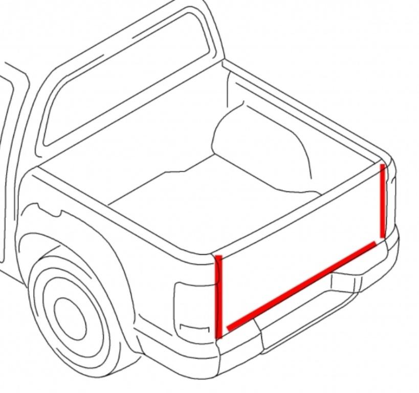 Utěsnění zadního čela pro pick-up
